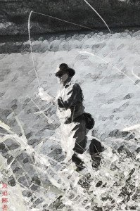 scott-fishing-sumi-e