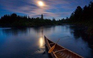 nuit canot lune