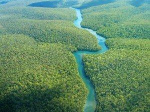 rivière vue du ciel